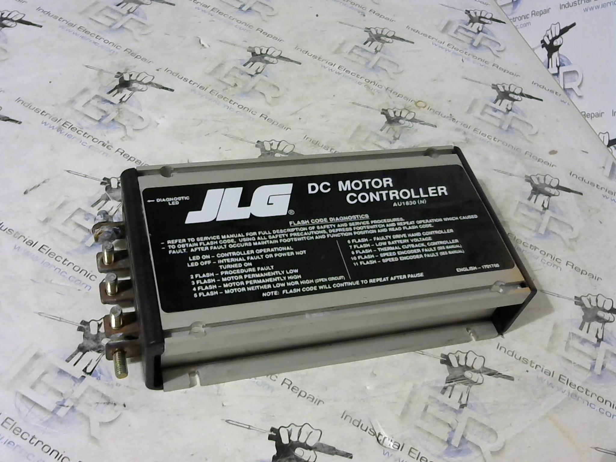 Jlg dc motor controller repair for Industrial dc motor controller
